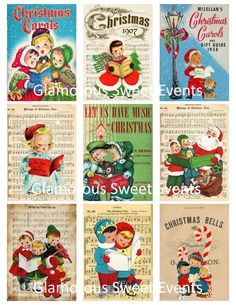 INSTANT DOWNLOAD Christmas Carolers by glamoroussweetevent on Etsy