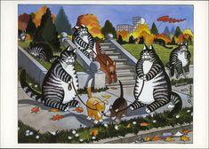 postcard - Kliban Cats 2 | Flickr - Photo Sharing!