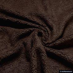 Baumwolle rein - Stoff Baumwolle Plüsch Teddy braun Webpelz schoko - ein Designerstück von stoffamstueck bei DaWanda