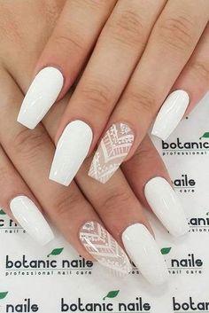 white nail art inspiration
