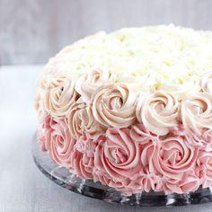 Ombre rose cake - tort w róże | Cukrowa Wróżka
