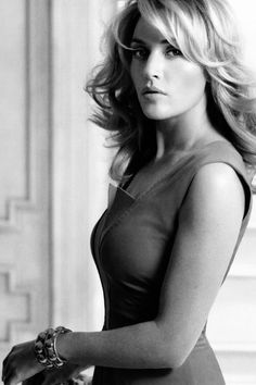 Kate Winslet black and white glamour