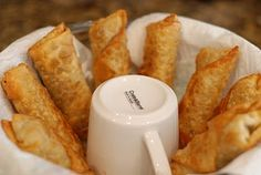 eggrolls. been wondering what to do with the leftover wonton wrappers (from home made ravioli's, also yum!)