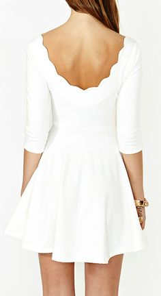 Scalloped skater dress