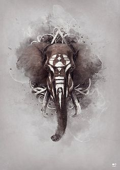 art inspiration We don't post much digital art but this is absolutely amazing and a great inspiration to ANY type of artist.We don't post much digital art but this is absolutely amazing and a great inspiration to ANY type of artist. Elefante Tribal, Elefante Tattoo, Digital Art Illustration, Afrika Tattoos, Comics Und Cartoons, Elephant Love, Tribal Elephant Art, Elephant Print, Elephant Gif