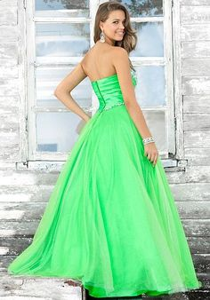 PINK BY BLUSH PROM APPLE GREEN TULLE BALL GOWN 5102. Blush Prom by Alexia    frenchnovelty.com