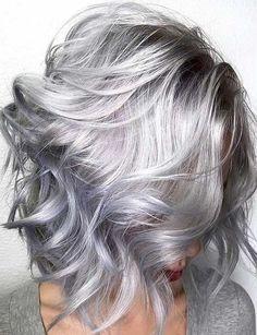 Silver grey hair dye unique beehive hair spray plus instagra Silver Grey Hair Dye, Grey Hair Wig, Lilac Hair, Silver Hair Colors, Blonde Hair, Sombre Hair, Lob Hair, Silver Color, Red Color