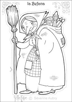 Befana Christmas Coloring Page