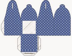 Blue Stripes and White Polka Dots Free Printable Boxes.