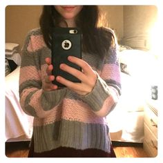 Aero Knit Top This KNIT top is pink and grey, and very fuzzy. It is slightly boxy, plush, and soft. Wear it with jeans or a skirt, this one is in my store, so BUNDLE! Thanks!   It is BRAND NEW and NEEDS TO BE SOLD.                 Will negotiate! Please offer, like, comment, share!! ❤️ Aeropostale Tops Tees - Long Sleeve