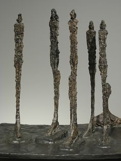 """Alberto Giacometti (1901–1966). Swiss sculptor, painter, draughtsman, and printmaker. """"The forest""""."""