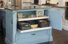 küche insel platz lagern aufbewahrung holz schränke ordnung