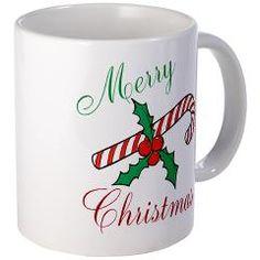Merry Christmas Candy Cane Mug