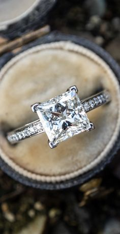 28a9362013f 2 Carat Princess Cut Diamond Tiffany   Co Engagement Ring H VS2