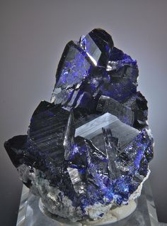 Azurite (exceptional electric blue) Milpillas Mine, Cuitaca, Municipio de Santa Cruz Sonora, Mexico 6.9 x 5.1 CM