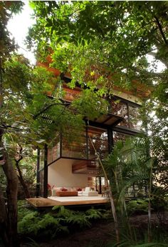 Architecture, small modern nature house design exterior decorating ideas with glass window sliding door wood Architecture Design, Amazing Architecture, Installation Architecture, Building Architecture, Light Architecture, Landscape Architecture, Design Exterior, Modern Exterior, Green Life