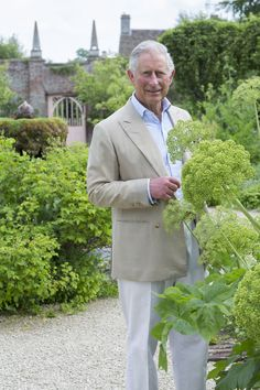 Prince Charles in the kitchen garden at Highgrove. Built between 1796 and Highgrove House is the family residence of Charles and Camilla and is situated south west of Tetbury in Gloucestershire.