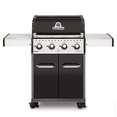 Shop Broil King Baron™ 440 BTU) Natural Gas Grill with Side Burner at Lowe's Canada. Find our selection of gas bbq & grills at the lowest price guaranteed with price match. Propane Gas Grill, Gas Bbq, Barbecue Grill, Gas Grill Reviews, Bbq Equipment, Best Gas Grills, Stainless Steel Hood, Sumo, Portable Bbq