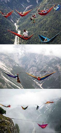 Slackliners gathered at Monte Piana in the Italian Dolomites for their annual Highline Meeting