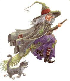 Witch n kitty Retro Halloween, Halloween Imagem, Photo Halloween, Halloween Clipart, Halloween Pictures, Spooky Halloween, Holidays Halloween, Halloween Crafts, Happy Halloween