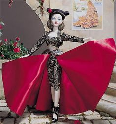 Gene Marshall, Song of Spain full dressed doll, 1999. I bought it for the outfit & to sell the doll but one of my others has a crack in her body so I may need to keep her. Another gorgeous & inexpensive one.