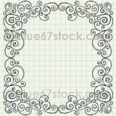 Sketchy Doodle Swirly Border Vector Illustration by blue67 by blue67design, via Flickr