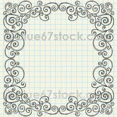 Sketchy Doodle Swirly Border Vector Illustration by blue67 by blue67design, via Flickr