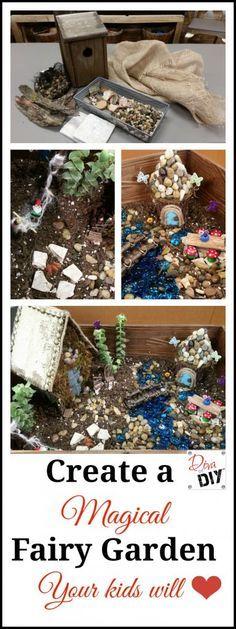 Create a Upcycled Fairy Garden