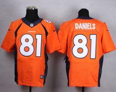 2014 Men's Nike NFL Denver Broncos #81 Owen Daniels Orange New Elite Jerseys