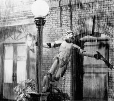 Stormtrooper singing  in the rain @Mary Green