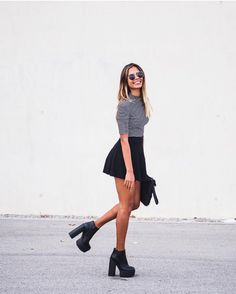 NEW STUNNING INSPIRATION - Boots for days @chiquehappens Picture emitaz #howtochic #ootd #outfit