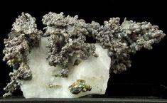 Safflorite, (Co,Fe)As2, on calcite,  Bouismas Mine, Bouismas, Bou Azzer District, Tazenakht, Ouarzazate Province, Morocco - Size of specimen 4.7 cm