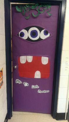 Halloween door decoration #monster #door