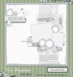 C'est Magnifique Scrapbook Kits and Store: Search results for sketch