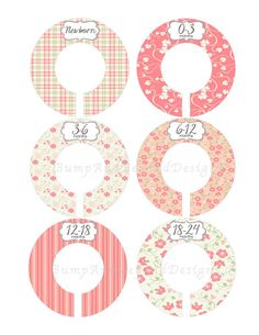 Custom Closet Dividers Baby Closet Dividers Girl Pink Green Floral Flowers Baby Shower Gift Closet Organizers Baby Girl Nursery 005 on Etsy, $9.00