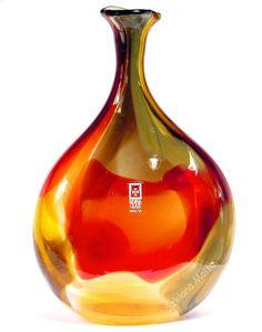 Wazon szklany Caspia rękodzieło Mdina Glass Malta