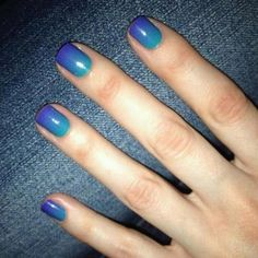 Purple & Teal Ombre #beauty #nails