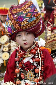 Tibet | Karuna boy photographed at the Mani Genkok Festival.  | © Matthieu Richard