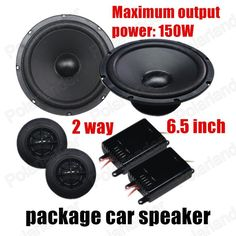auto door component speakers 2x150W 2 way 6.5 inch 1 pair car package Speaker Car Audio stereo speaker Perfect Music Sound