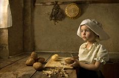 Portraits of a Daughter in the Style of Old Master Paintings