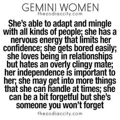 you need to know about Gemini women. For more zodiac fun. (Zodiac City) What you need to know about Gemini women. For more zodiac fun.What you need to know about Gemini women. For more zodiac fun. All About Gemini, Gemini Love, Gemini Woman, Gemini And Cancer, Taurus And Gemini, Gemini Horoscope, June Gemini, Horoscope Memes, Gemini Quotes