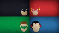 Minimalistic - Green Lantern, Batman, Superman, Flash - Justice League of America - Wallpaper (#1979482) / Wallbase.cc