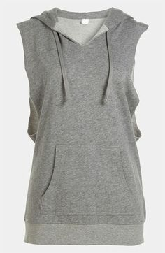 Leith Cut Sleeve Hoodie available at #Nordstrom