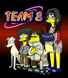 Naruto Simpsons - Team 8 by lloydvdw on DeviantArt