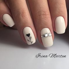 Semi-permanent varnish, false nails, patches: which manicure to choose? - My Nails Spring Nail Art, Spring Nails, Winter Nails, Love Nails, My Nails, Faux Ongles Gel, Nagellack Design, Heart Nails, Heart Nail Art