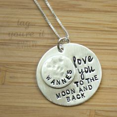 I+Love+You+to+the+Moon+and+Back+Necklace+by+TagYoureItJewelry,+$52.00