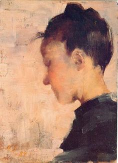 Helene Schjerfbeck. 1884. This woman has probably experimented with more styles of painting than anyone. Her range is quite brilliant.