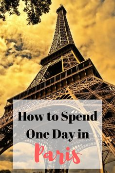 If you have a layover in Paris for a day, take advantage of all there is to do! Here's a guide on how to spend 24 hours in Paris.