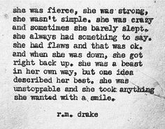 """She was fierce, she was strong"""