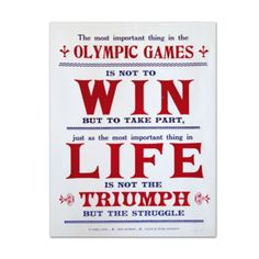 Image of Olympic Creed Letterpress